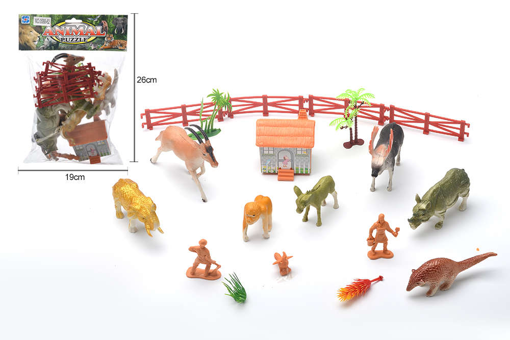 DIY Farm Ranch Toy Set Animal and Plant Model Simulation Toy No.TA261493