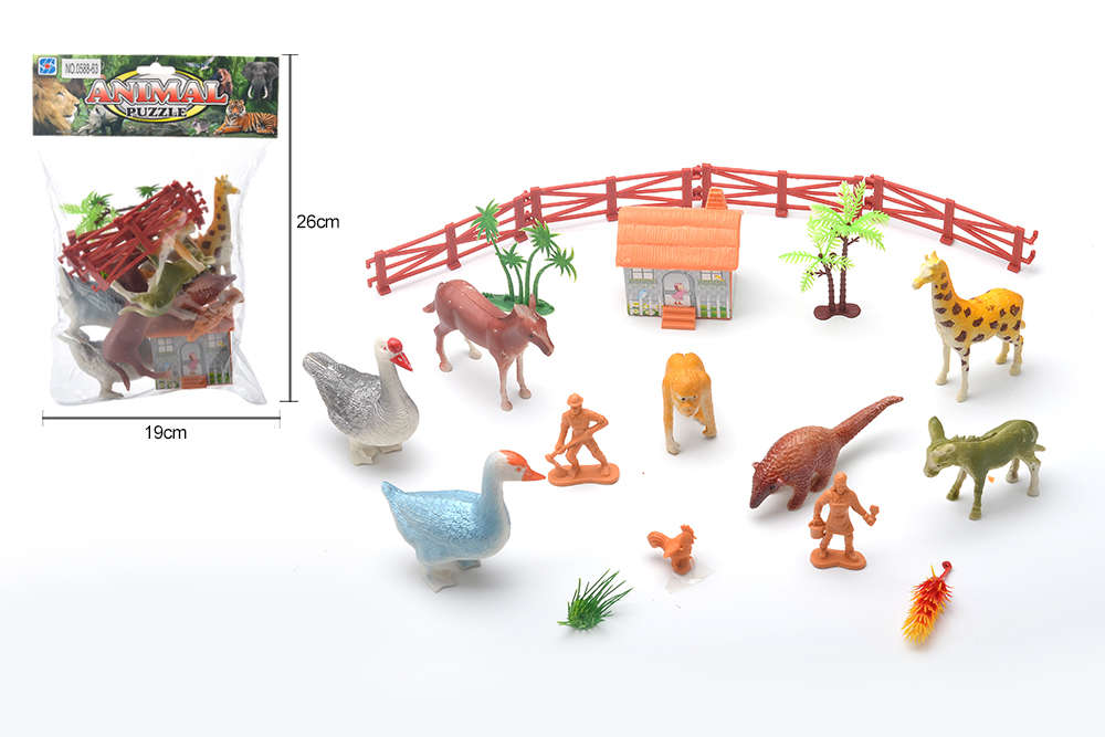 DIY Farm Ranch Toy Set Animal and Plant Model Simulation Toy No.TA261494