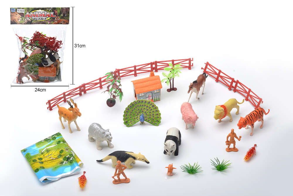 DIY Farm Ranch Toy Set Animal and Plant Model Simulation Toy No.TA261495