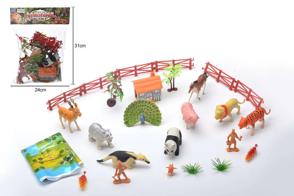 DIY Farm Ranch Toy Set Animal and Plant Model Simulation Toy No.TA261495