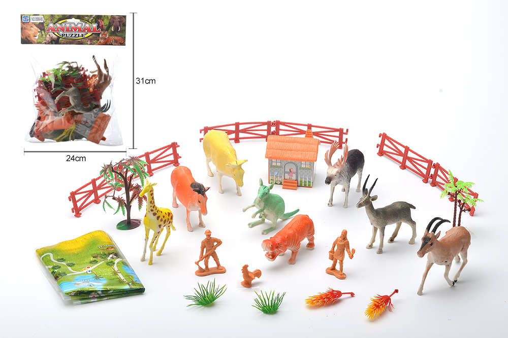DIY Farm Ranch Toy Set Animal and Plant Model Simulation Toy No.TA261496