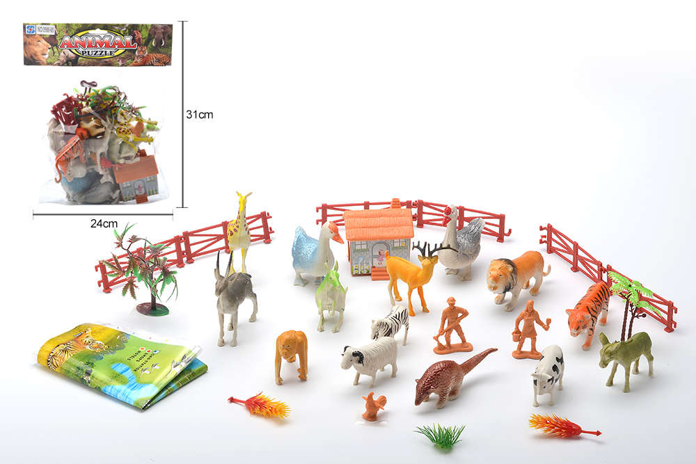 DIY Farm Ranch Toy Set Animal and Plant Model Simulation Toy No.TA261497