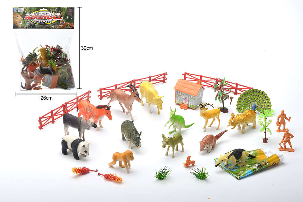 DIY Farm Ranch Toy Set Animal and Plant Model Simulation Toy No.TA261498