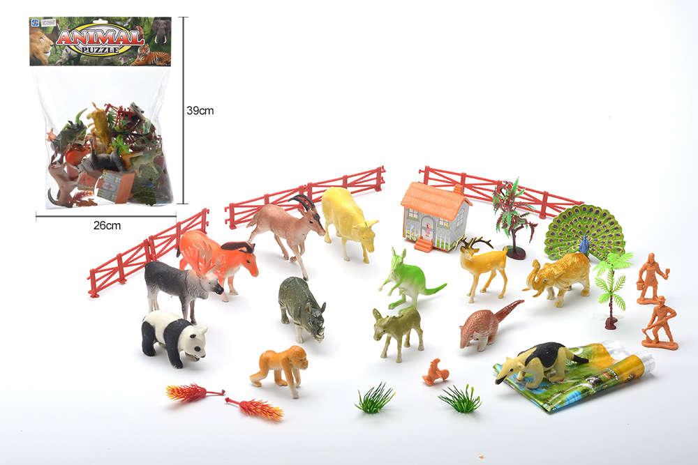 DIY Farm Ranch Toy Set Animal and Plant Model Simulation Toy No.TA261498