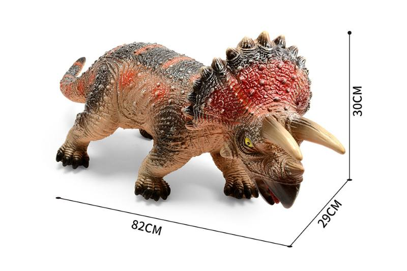 Animal and plant toys Triceratops white with light IC NO.TA261724
