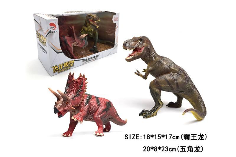 Tyrannosaurus Rex + Pentagon Dragon TPR Dinosaur Animal Toys NO.TA262775