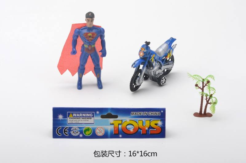 Movie and toy toy model bat, superman + motorcycle (return) + tree spider (3 mod No.TA259228