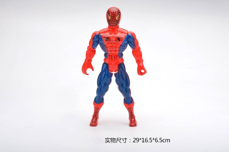 Red Spiderman cartoon anime toy with colorful lights No.TA259846