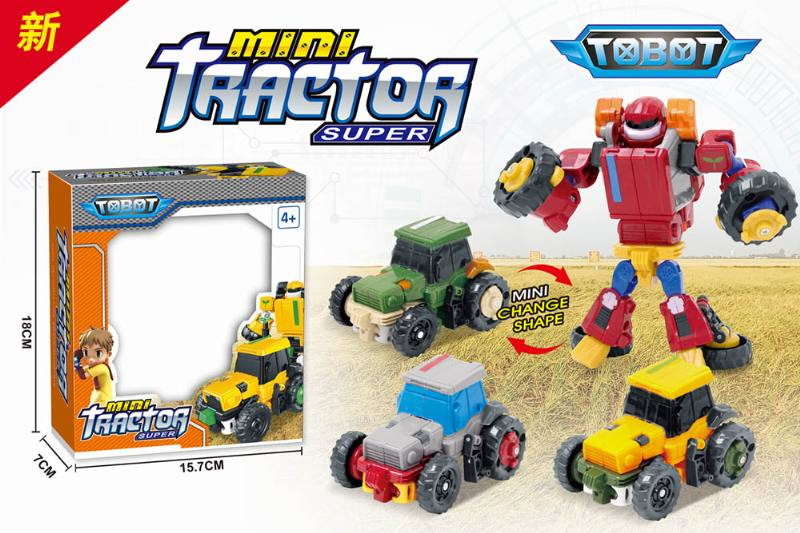Transforming toy Tobo brothers deformation car (three generations) farmer car No.TA257493