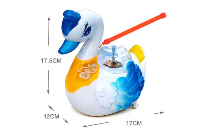 Electric universal 3D colorful projection swan portable lantern No.TA254611