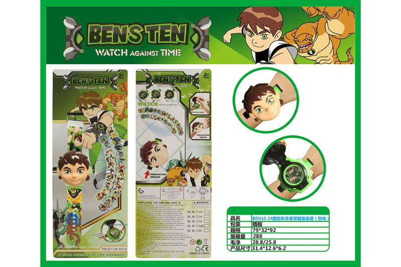 BEN10 24 Figure Projection Watch with Flip Cover (Included battery) No.TA260718