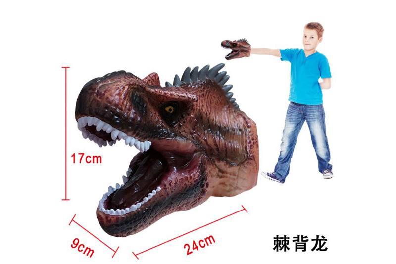 Novelty hand puppet toy Spiny dragon dinosaur hand puppet No.TA254852