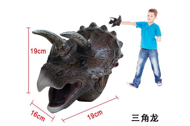 Novelty hand puppet toy Triceratops dinosaur puppet No.TA254853