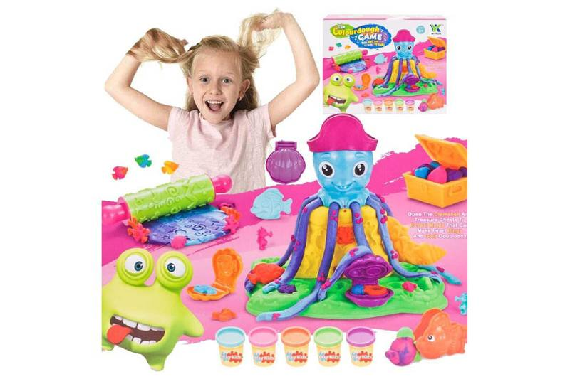 Puzzle Early Learning Creative DIY Toys Underwater World Octopus 3D Color Mud No.TA255039