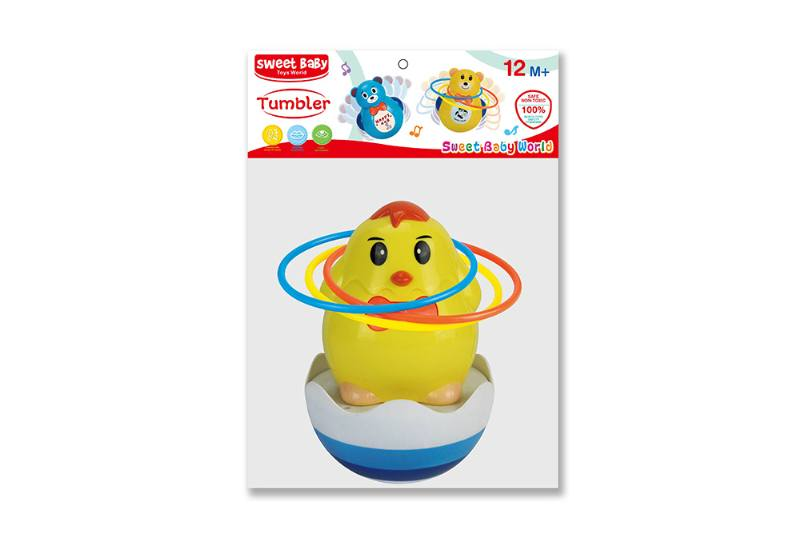 Novelty toy musical tumbler with lights No.TA259082