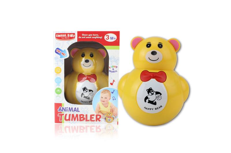 Novelty toy musical tumbler with lights No.TA259083
