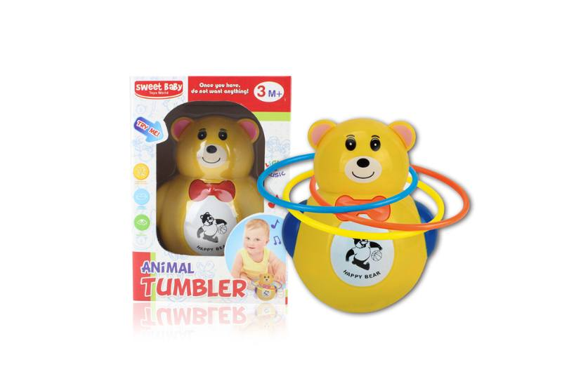 Novelty toy musical tumbler with lights No.TA259084