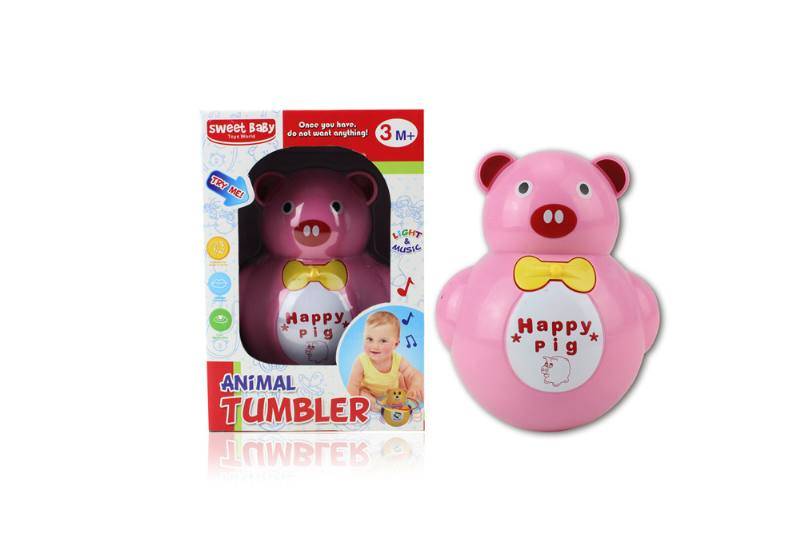 Novelty toy musical tumbler with lights No.TA259087