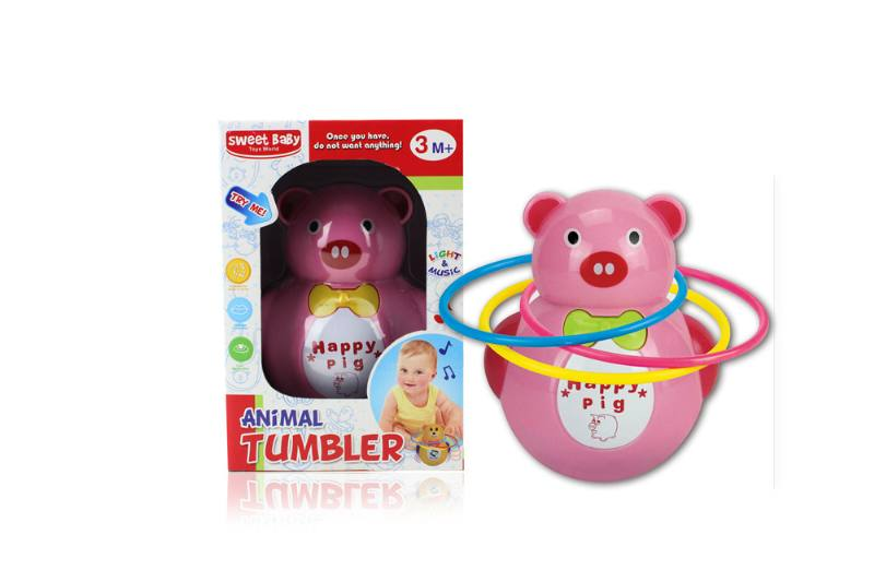 Novelty toy musical tumbler with lights No.TA259088