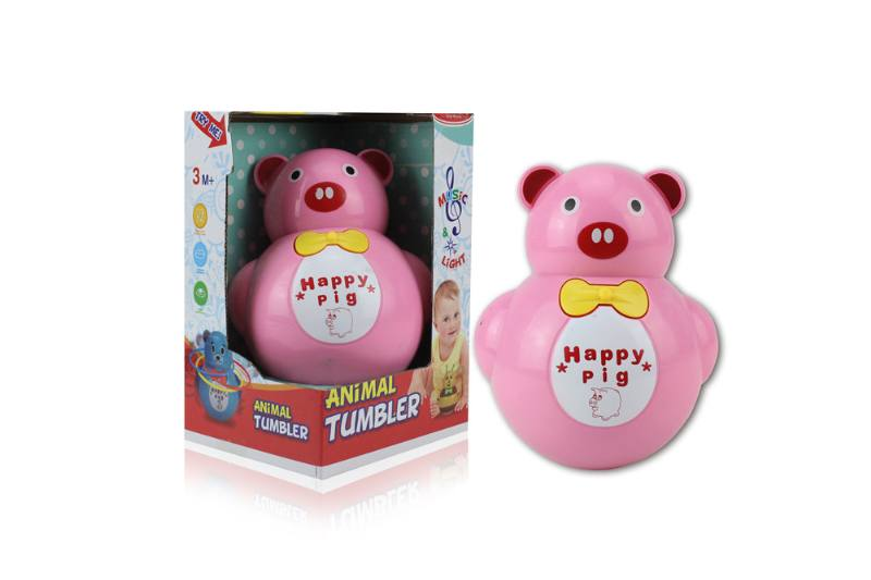 Novelty toy musical tumbler with lights No.TA259089