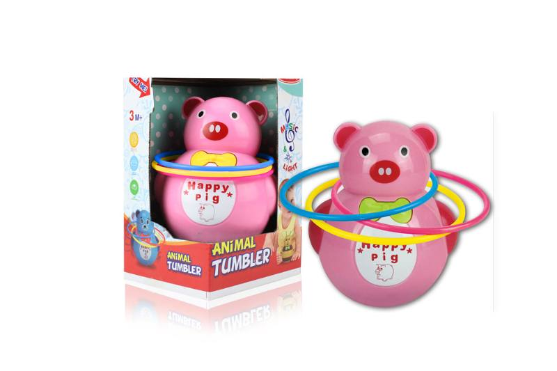 Novelty toy musical tumbler with lights No.TA259090