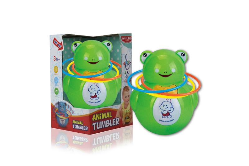 Novelty toy musical tumbler with lights No.TA259102