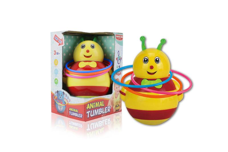 Novelty toy musical tumbler with lights No.TA259106