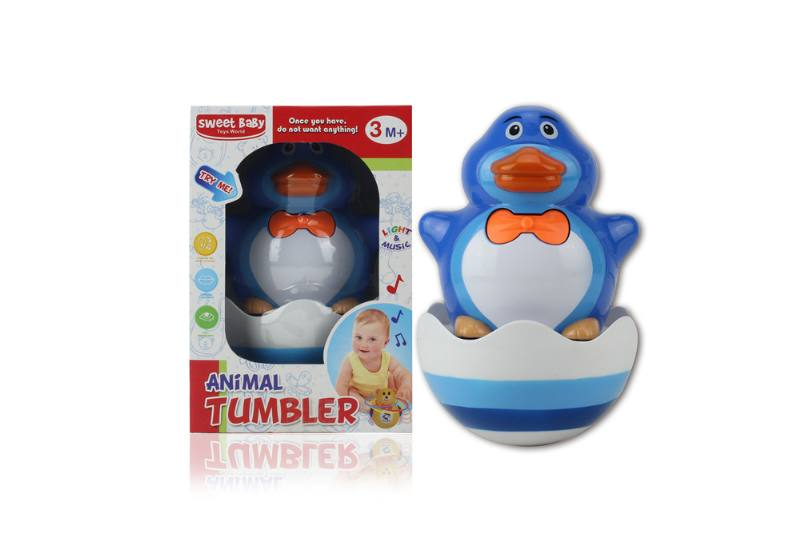 Novelty toy musical tumbler with lights No.TA259107