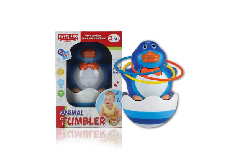 Novelty toy musical tumbler with lights No.TA259108