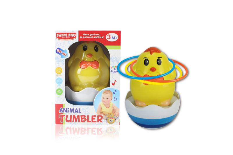 Novelty toy musical tumbler with lights No.TA259112