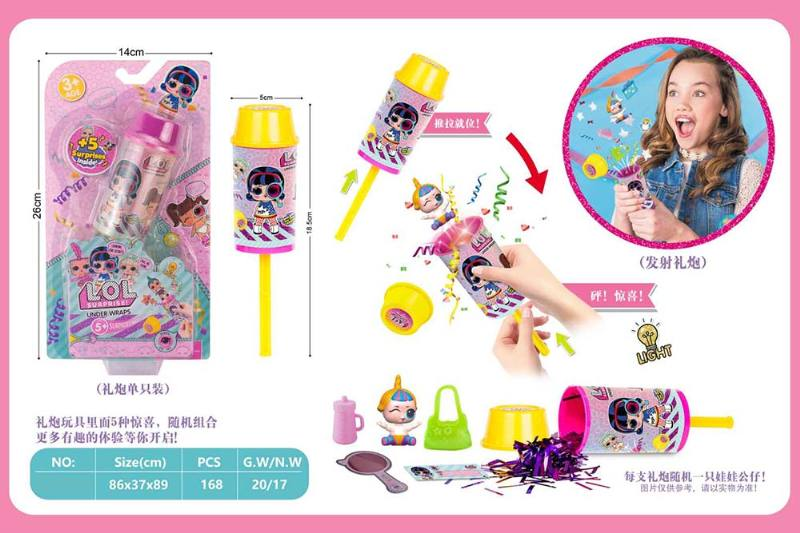 Novelty toy surprise magnifying glass salute with light No.TA260215