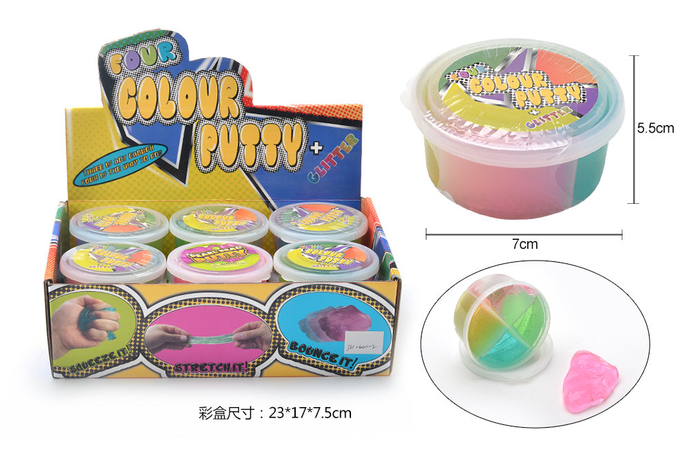 Novelty toy four-color cup putty No.TA260865