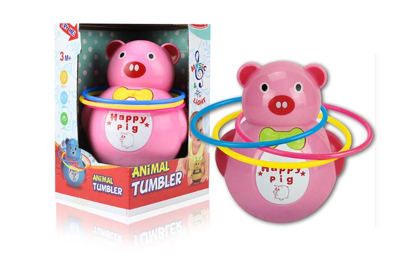 Pig music light tumbler (with circle) NO.TA262254