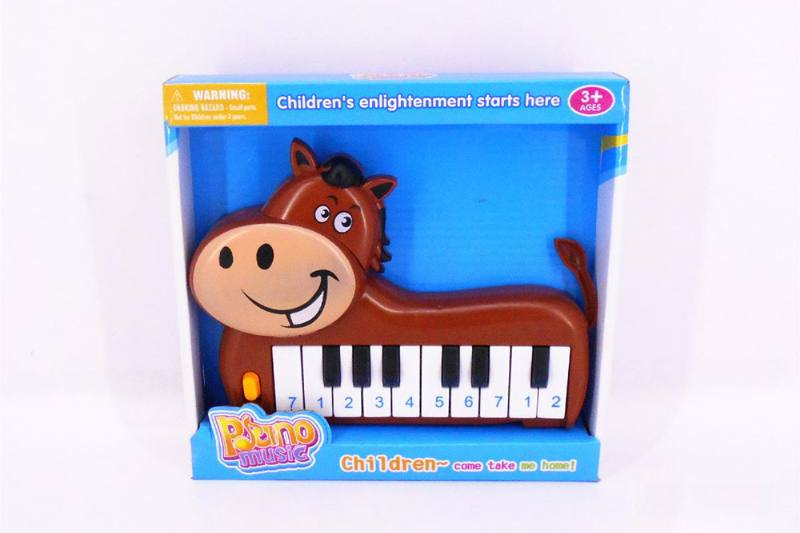 Musical instrument toy electronic piano (horse) No.TA257252