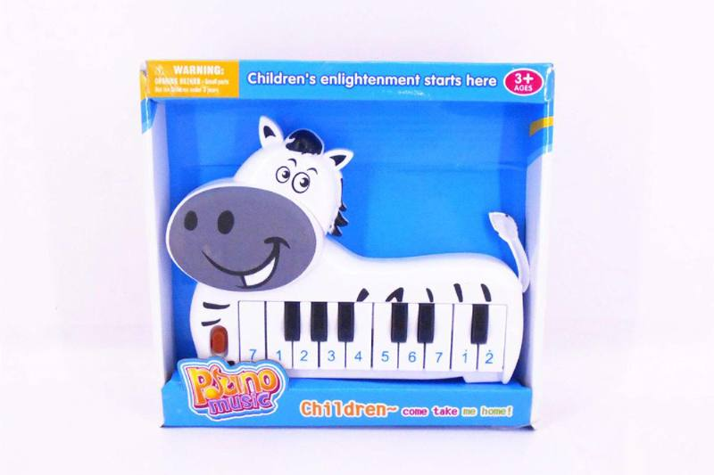 Musical instrument toy electronic piano (zebra) No.TA257258