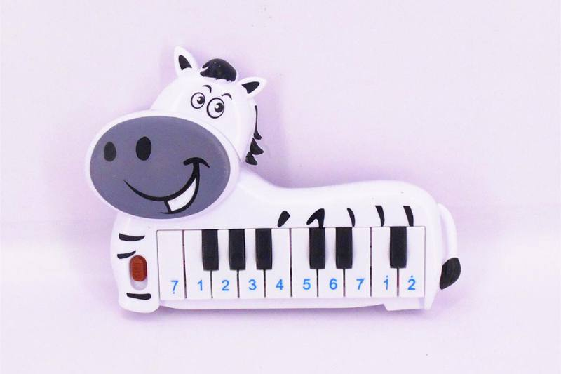 Musical instrument toy electronic piano (zebra) No.TA257259