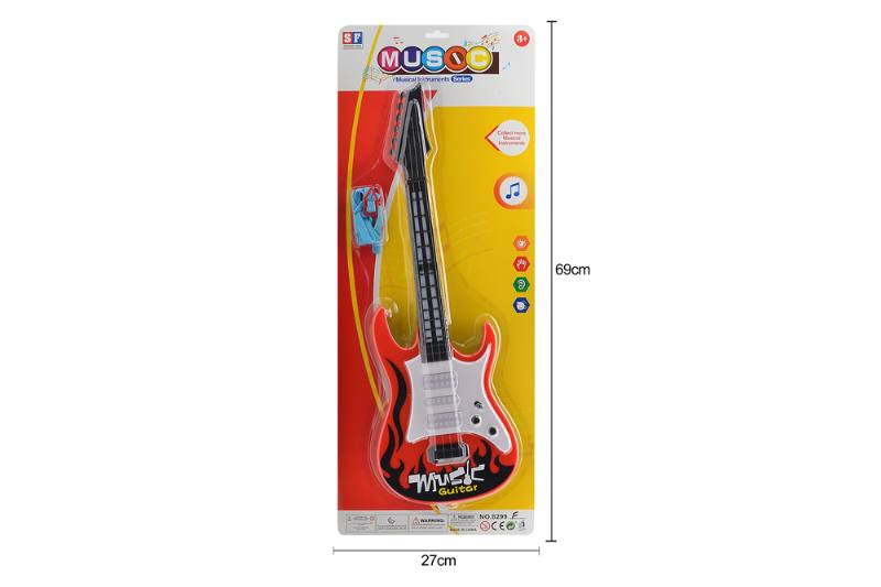 Puzzle early education instrument toy light music guitar No.TA258521