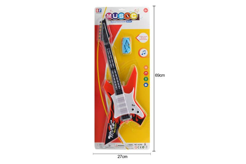 Puzzle early education instrument toy light music guitar No.TA258522