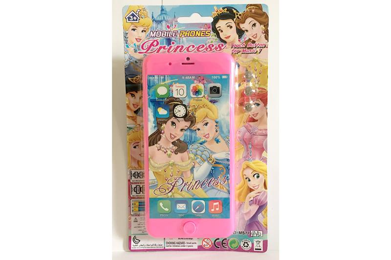 Music mobile phone toy Disney Princess Apple 8P music mobile phone No.TA254626