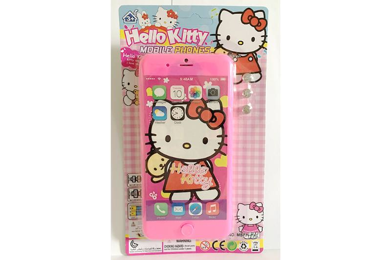 Music mobile phone toy KT cat apple 8P music mobile phone No.TA254627
