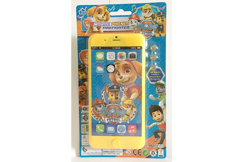 Music mobile phone toy dog ​​patrol apple 8P music mobile phone No.TA254630