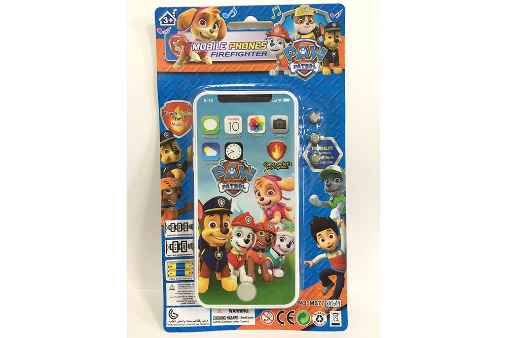 Music mobile phone toy dog ​​patrol team Apple XS full screen music phone No.TA261564