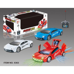 1:16 5 Channel R/C Remote Control Car with 3D Lights 6363