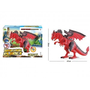 SIMULATION WESTERN FIRE DRAGON WITH SOUND AND LIGHT DINOSAUR TOY  Item No.:RS6169A