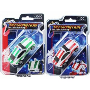 Small alloy cart-shaped bumblebee green and red children deformation car toys Item No.:A9001-25/26