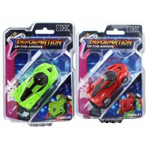 Small alloy car shape ferrari color with red and green deformation toys Item No.:A9001-21/22