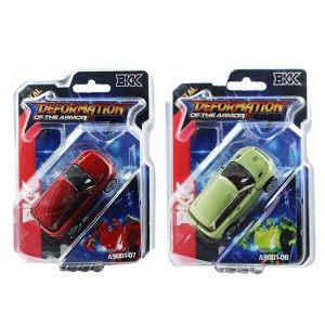 Small alloy land rover color with red and green deformation toy Item No.:A9001-07/08