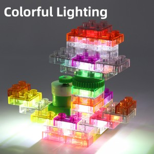Electricity Rotating Building Blocks with Lights 42PCS YS2960A