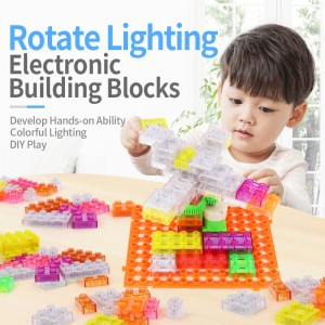 Electricity Rotating Building Blocks with Lights 50PCS YS2960C